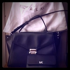 Michael Kors leather purse and wallet
